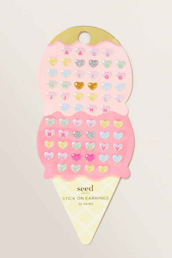 Ice Cream Stick On Earrings  MULTI  hi-res