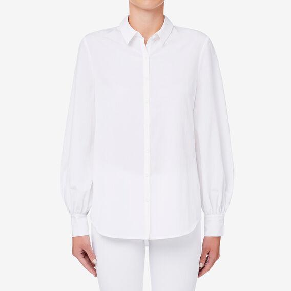 Blouson Sleeve Shirt  WHISPER WHITE  hi-res