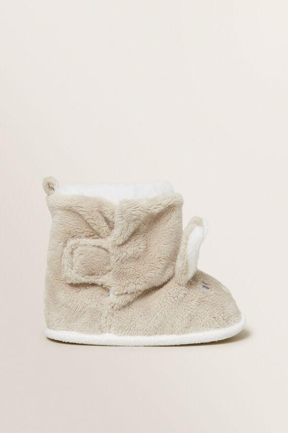Fluffy Bunny Slipper  BEIGE  hi-res