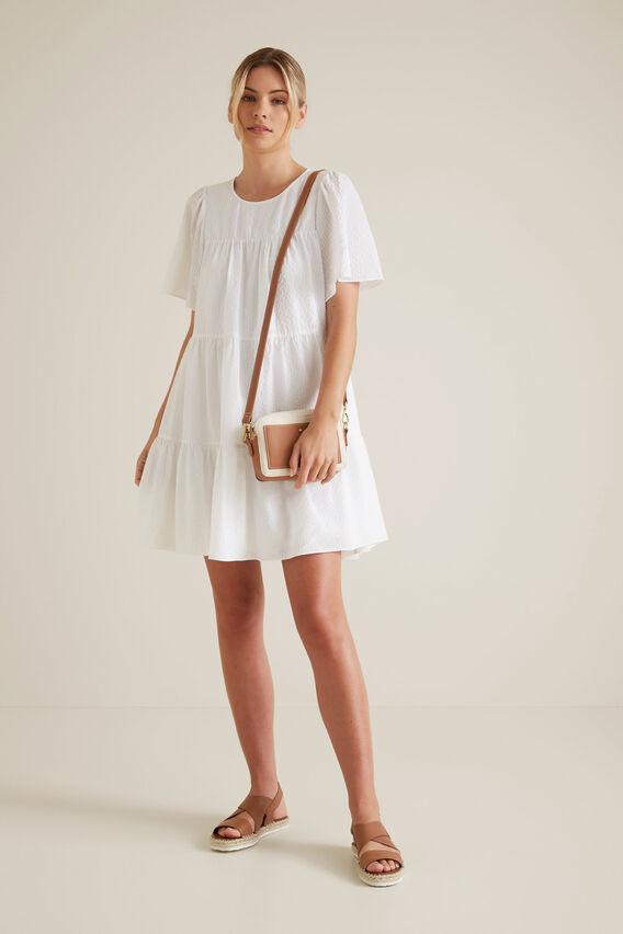 Floaty Textured Dress  WHISPER WHITE  hi-res