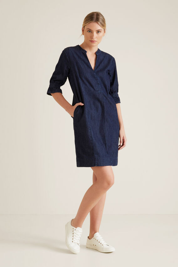 Chambray Dress  BLUE IRIS DENIM  hi-res