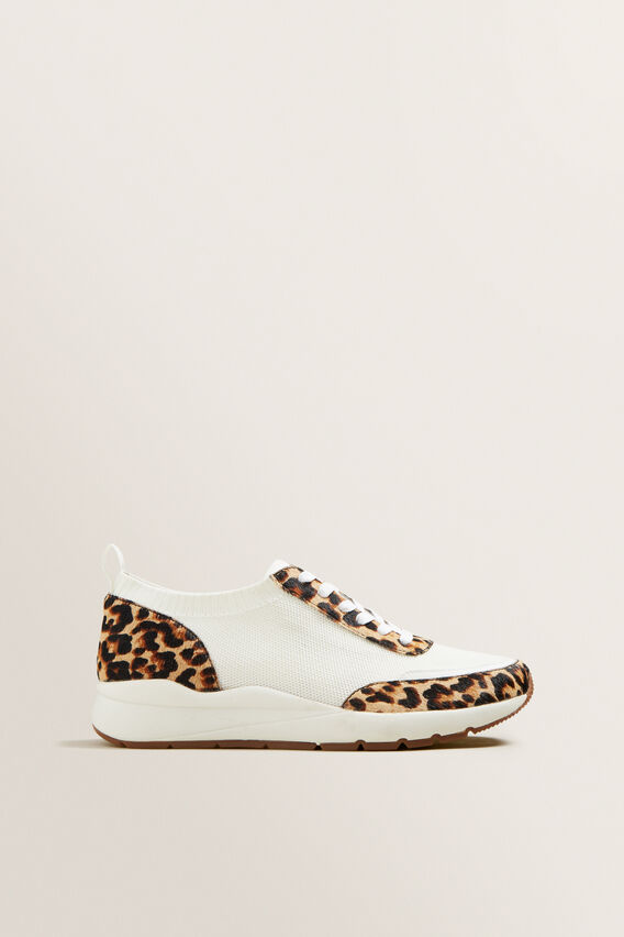 Leather Knit Sneaker  OCELOT  hi-res