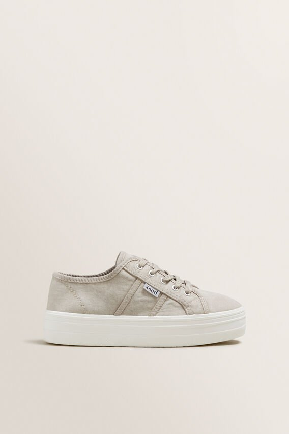 Billie Flatform Sneaker  GREY  hi-res