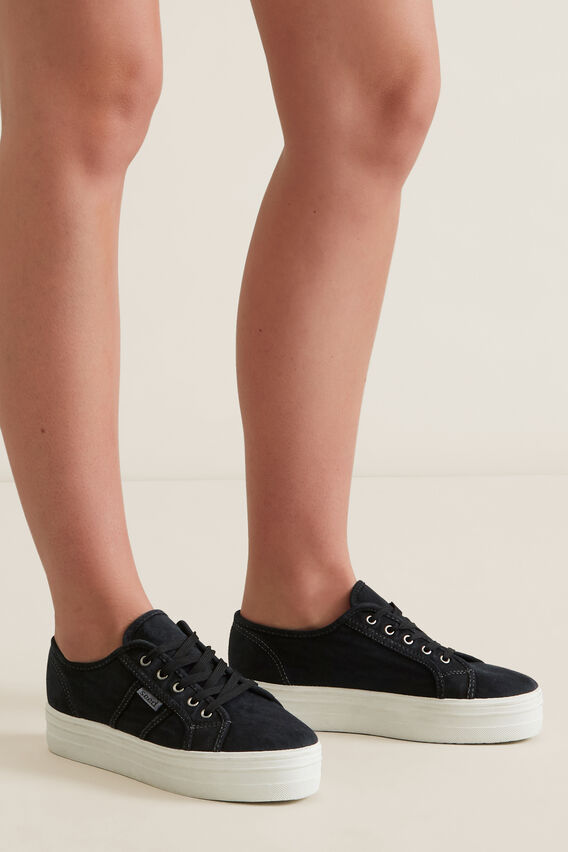 Billie Flatform Sneaker  BLACK  hi-res