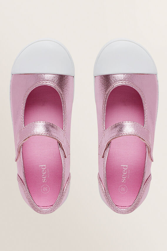 Mary-Jane Canvas Shoes  PINK METALLIC  hi-res