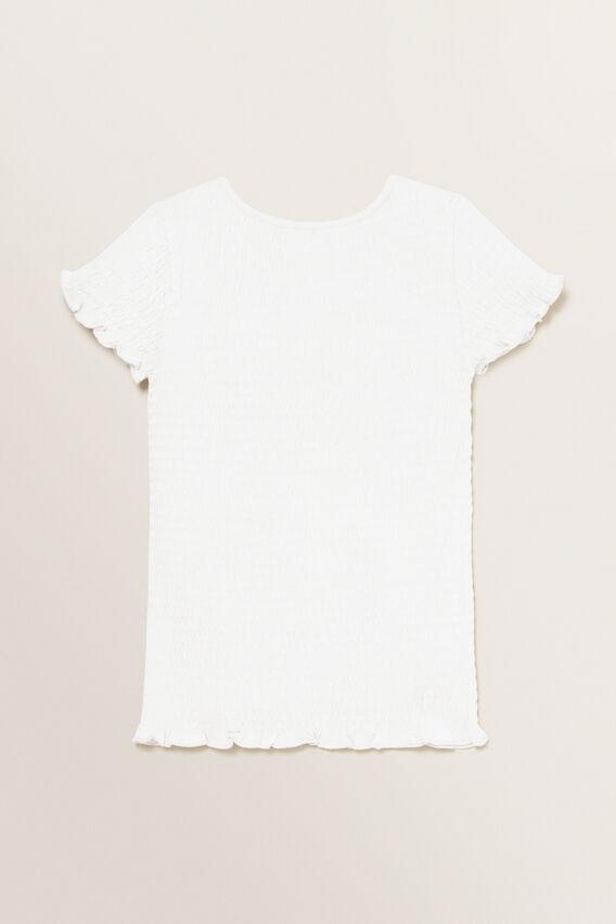 Shirred Tee  WHITE  hi-res