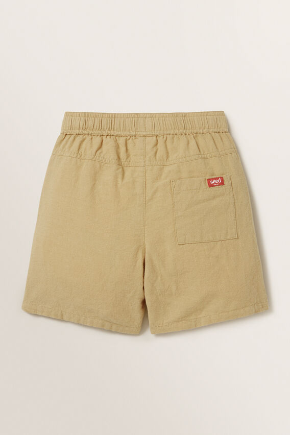 Linen Blend Short  TAN  hi-res