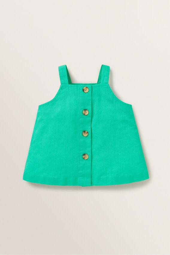 Linen Button Top  APPLE GREEN  hi-res