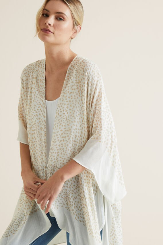 Summer Poncho  CLOUD CREAM MULTI  hi-res