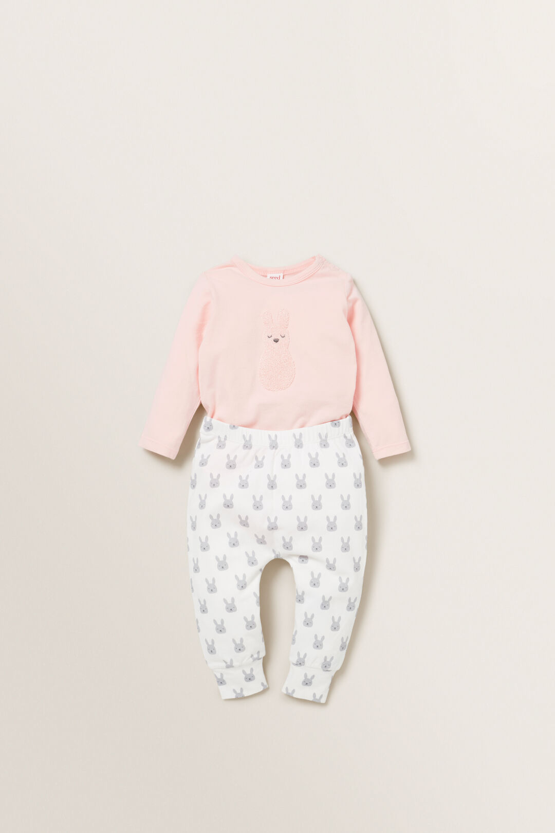 Chenille Bunny Bodysuit  PRETTY PINK  hi-res