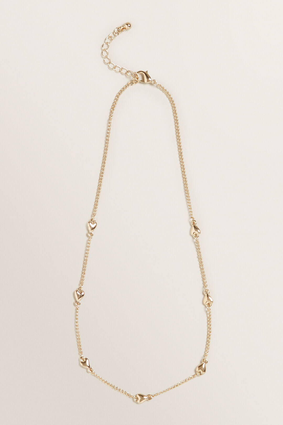 Multi Heart Necklace  GOLD  hi-res