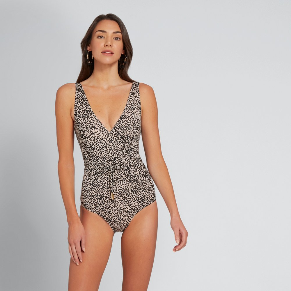 WRAP-FRONT ONE PIECE